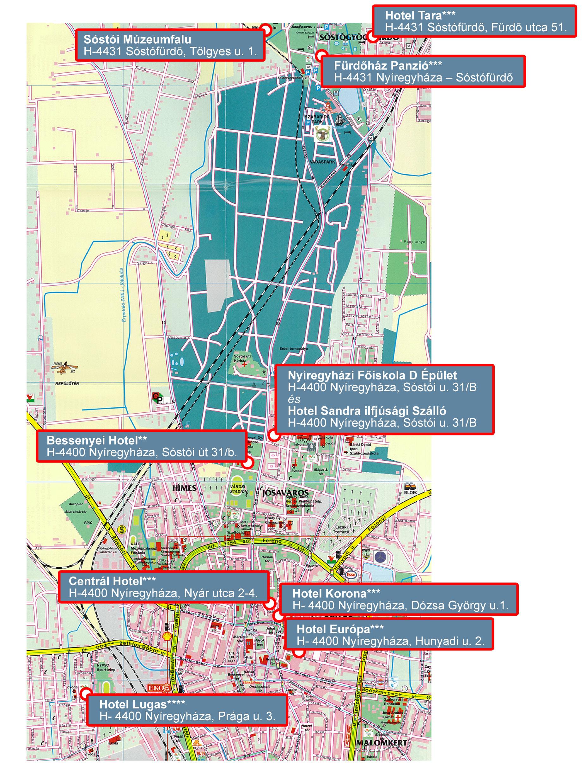 nyíregyháza térkép vasútállomás K&M Congress Kft.   kongresszus szervezés, idegenforgalom nyíregyháza térkép vasútállomás